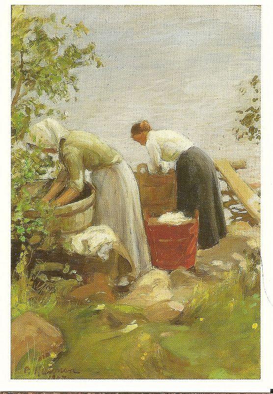 Pekka Halonen: Washerwoman:
