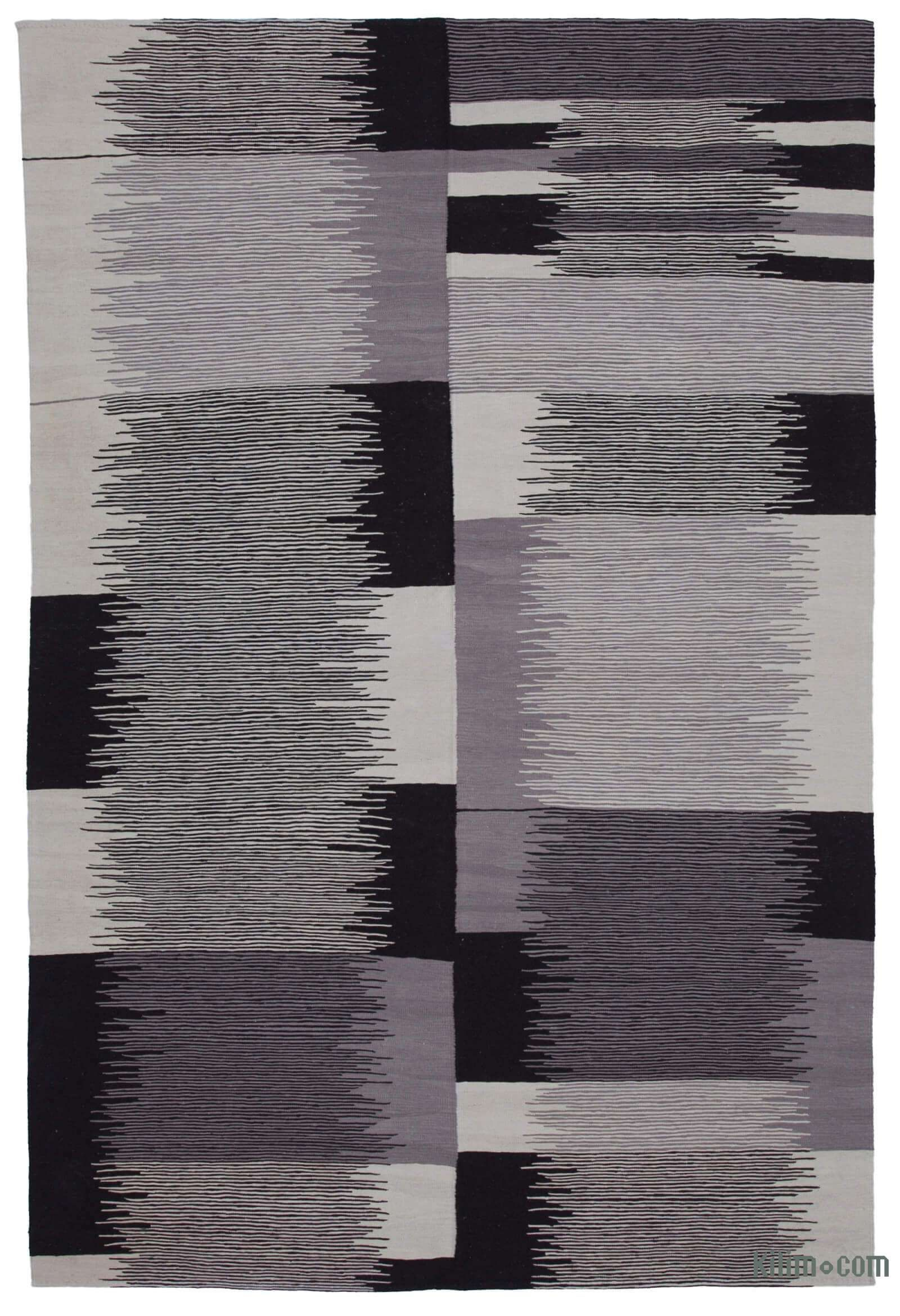 Contemporary Handwoven Wool Rug