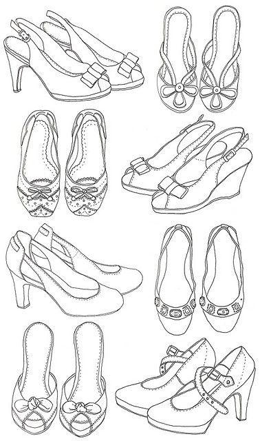 Farklı Ayakkabı çizimleri Ayakkabı çizimlerim Zapatos Dibujos