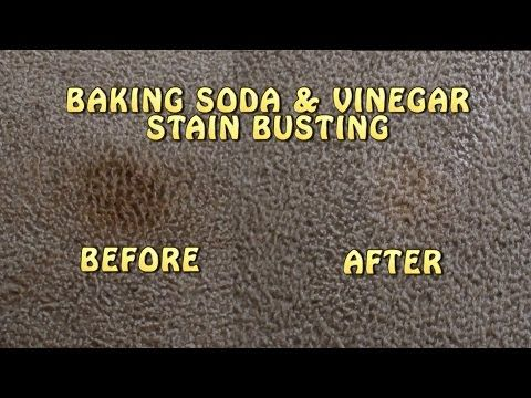 Baking Soda Amp Vinegar Carpet Stain Busting Youtube