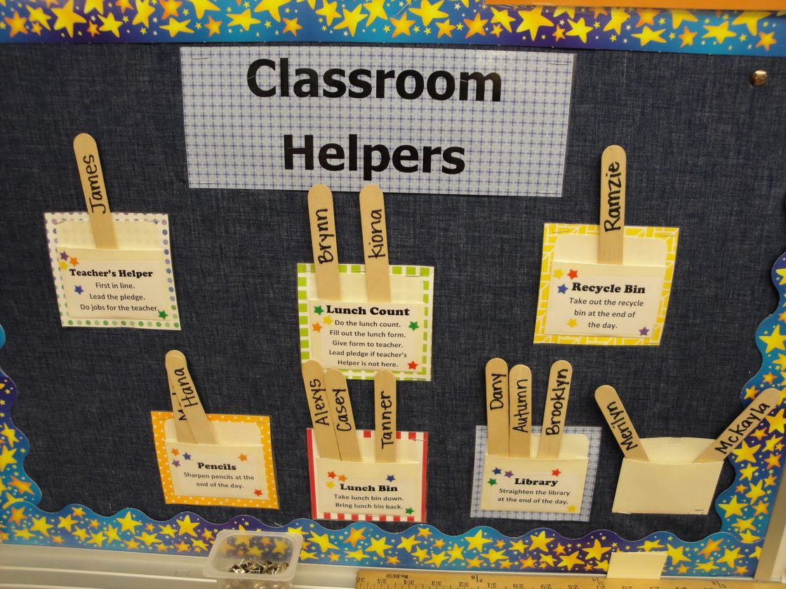 Helper Bulletin Board Ideas | Bulletin Board For Classroom Decoration