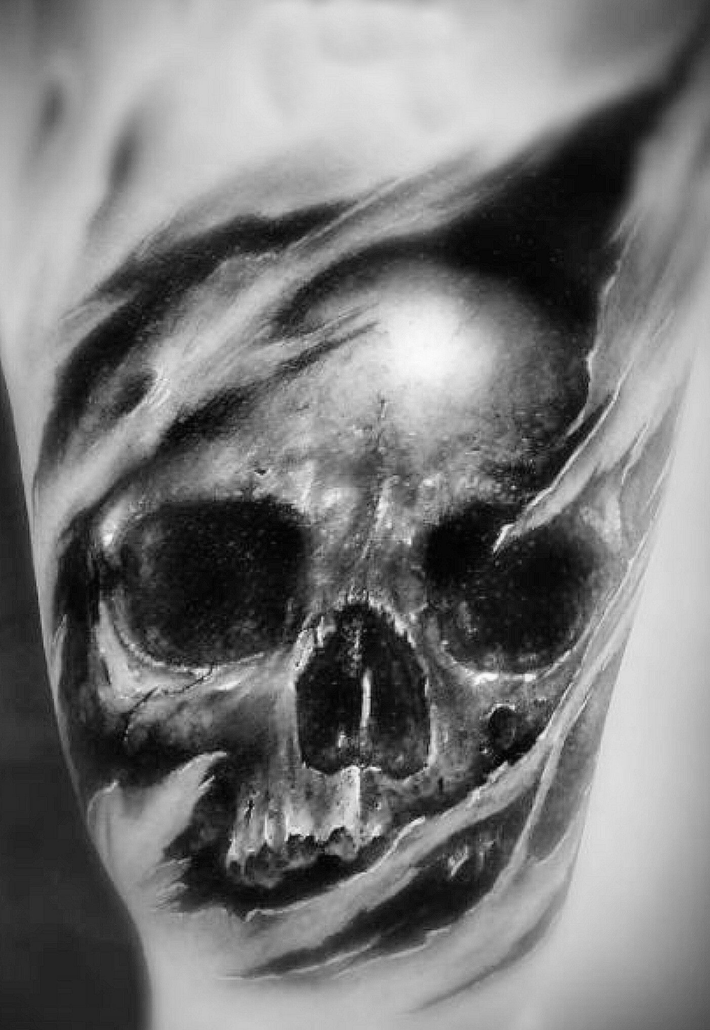 Pin by Rendell lipkin on skulls | Ripped skin tattoo ...
