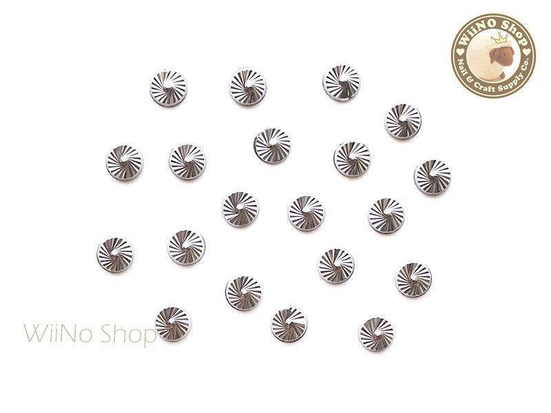4mm Silver Decorative Round Metal Studs