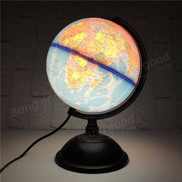 20cm Led World Globe Earth Tellurion Atlas Map Rotating Stand Geography Educational