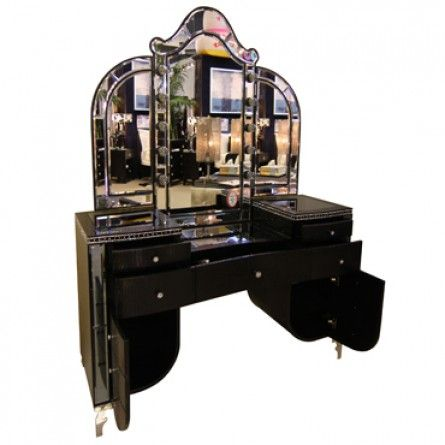 AICO HOLLYWOOD SWANK VANITY WITH MIRROR | Gallery Furniture   Houston, TX (  I Have