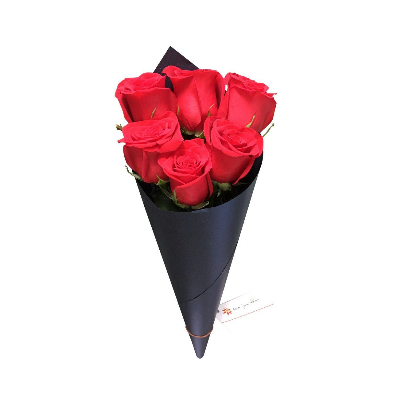Rosas Rojas En Cono Tu Jardín Flores Rosas Disenos De Unas