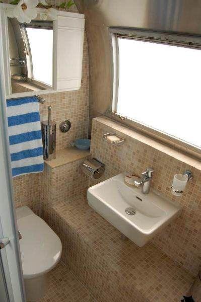 Airstream Caravan After Refurbishment Had To Have Bathroom And