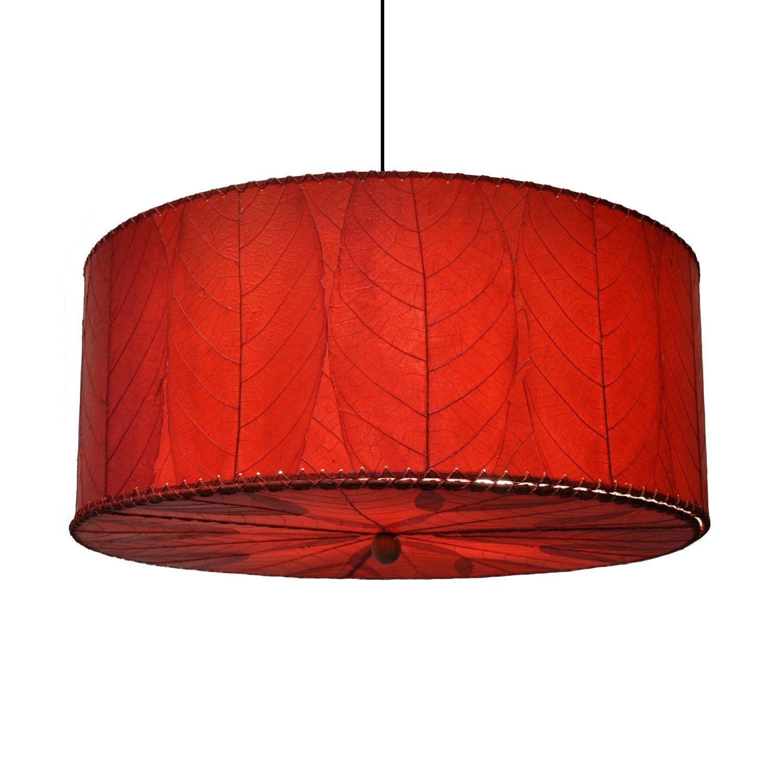 Red Murano Glass Pendant Light Ceiling