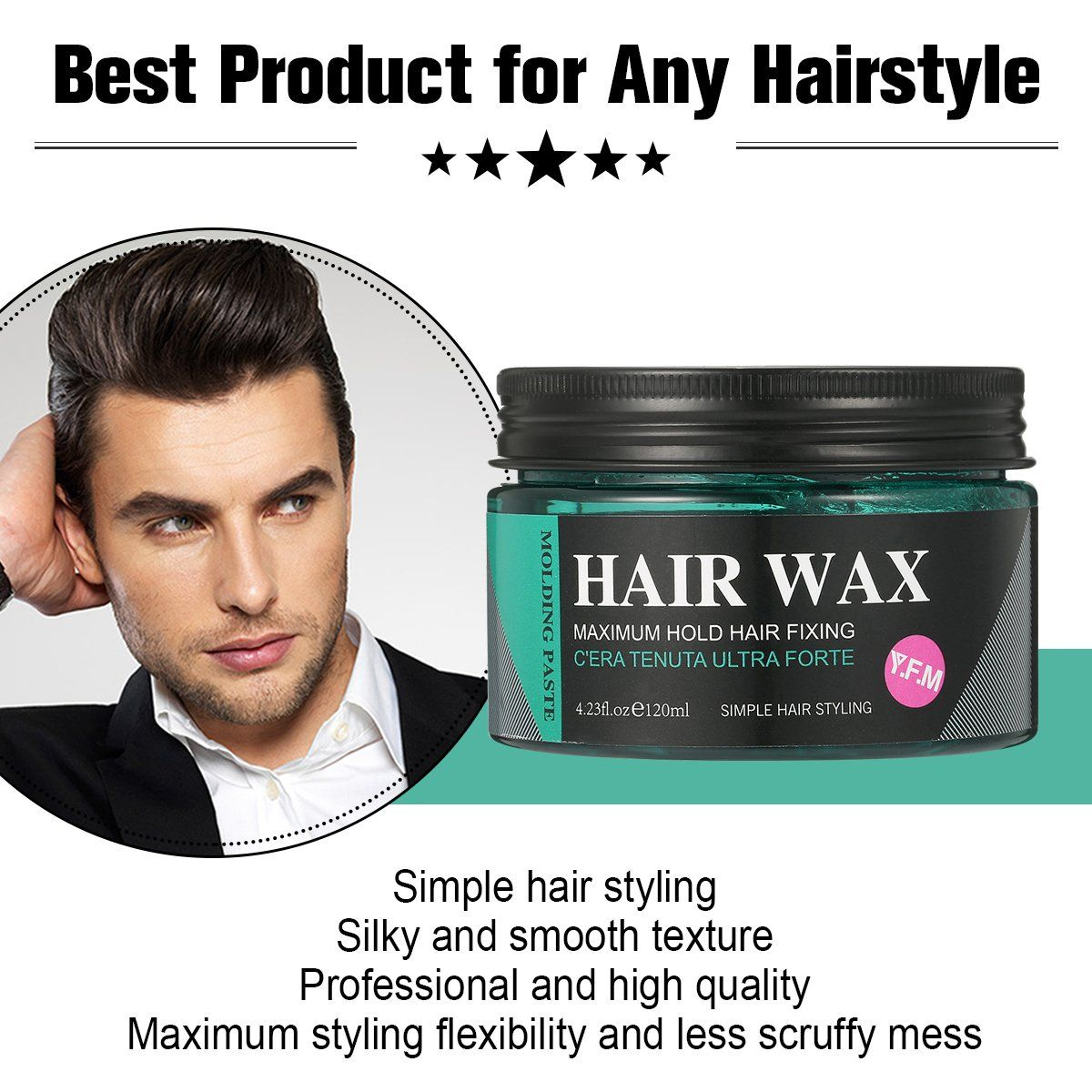 Strong Hold Hair Wax Luckyfine Hair Styling Clay Hair Styling Pomade For Man Unisex Clear Hair Wax For Thickened Nongreasy Wa Hair Wax Grey Hair Dye Clear Hair
