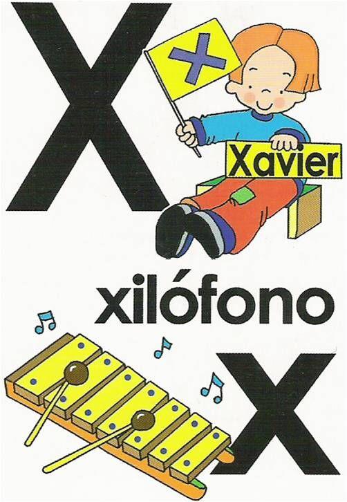 Abecedario Referente Letra X Alfabeto Ilustrado Atividades De Alfabetização Educativo