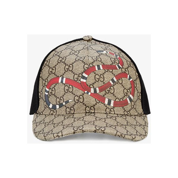 31da759f61c Gucci Rap Baseball Cap with Snake and GG Logo Detailing ( 270) ❤ liked on  Polyvore featuring men s fashion