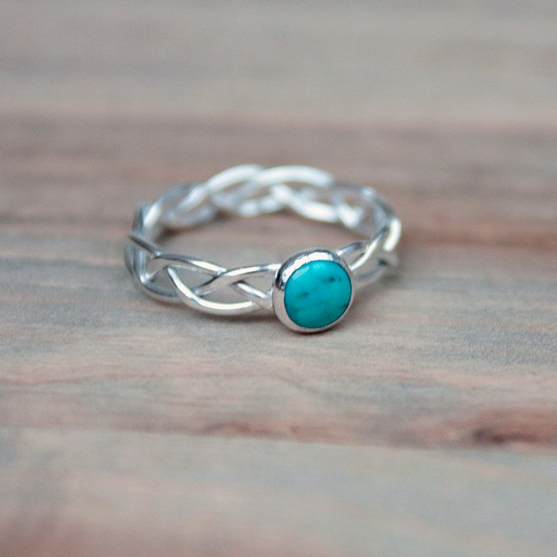 ancient male mens quality gemstone for s stone fashion dpp silver rings turquoise green commo product punk carved steel high jewelry stainless from crack