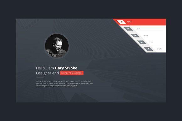 Vcard 2 Resume Cv Html Template By Theme On Creativemarket