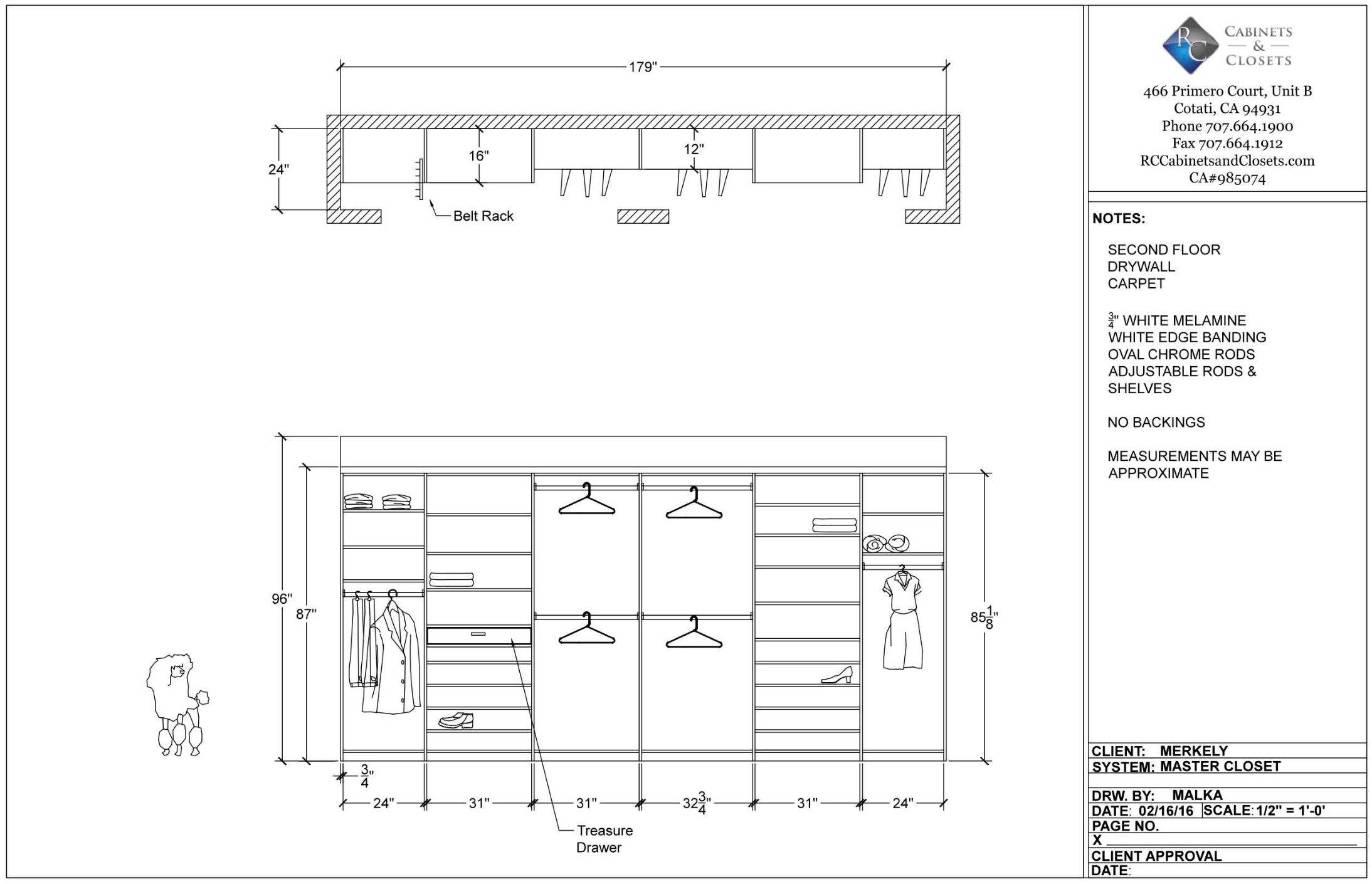 Well Designed Wall Closet Using Autocad Program Accurate Detailed