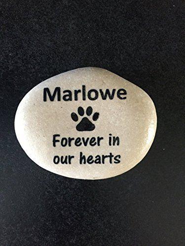 Decorative Stones Pet Memory Stone   Personalized Memorial Stones  Memory Stones  Backyard Makeover