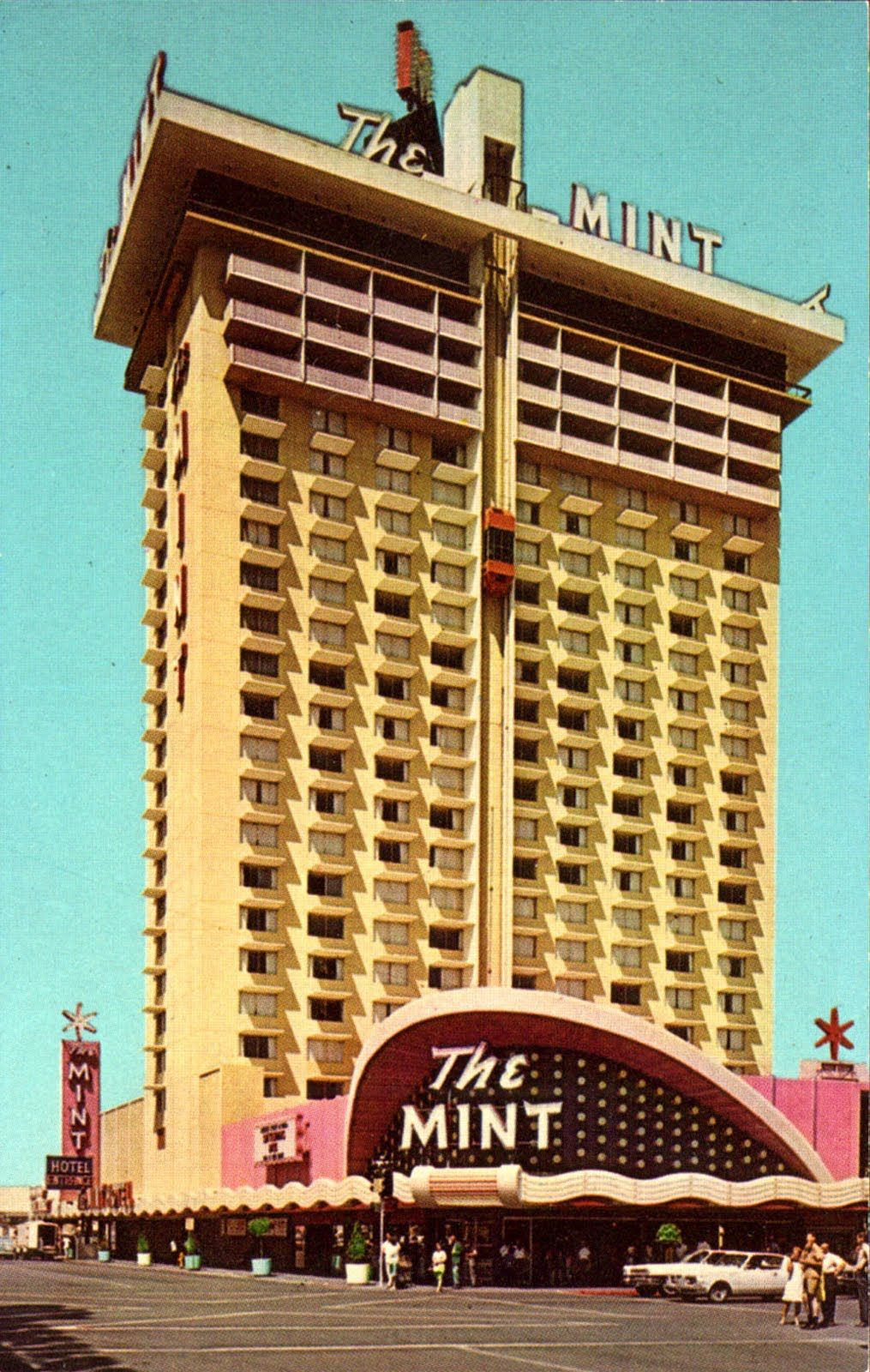 Vintage Las Vegas The Mint Hotel Downtown On Fremont Street Swallowed Up By Binion S Horseshoe