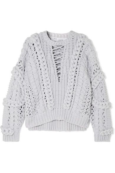 9747b2c718 IRO - Fresh cable-knit cotton-blend sweater in 2019 | Knit ...