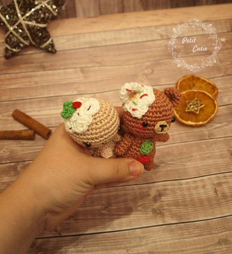 Gingerbread man and teddy crochet patterns | Free amigurumi patterns ...