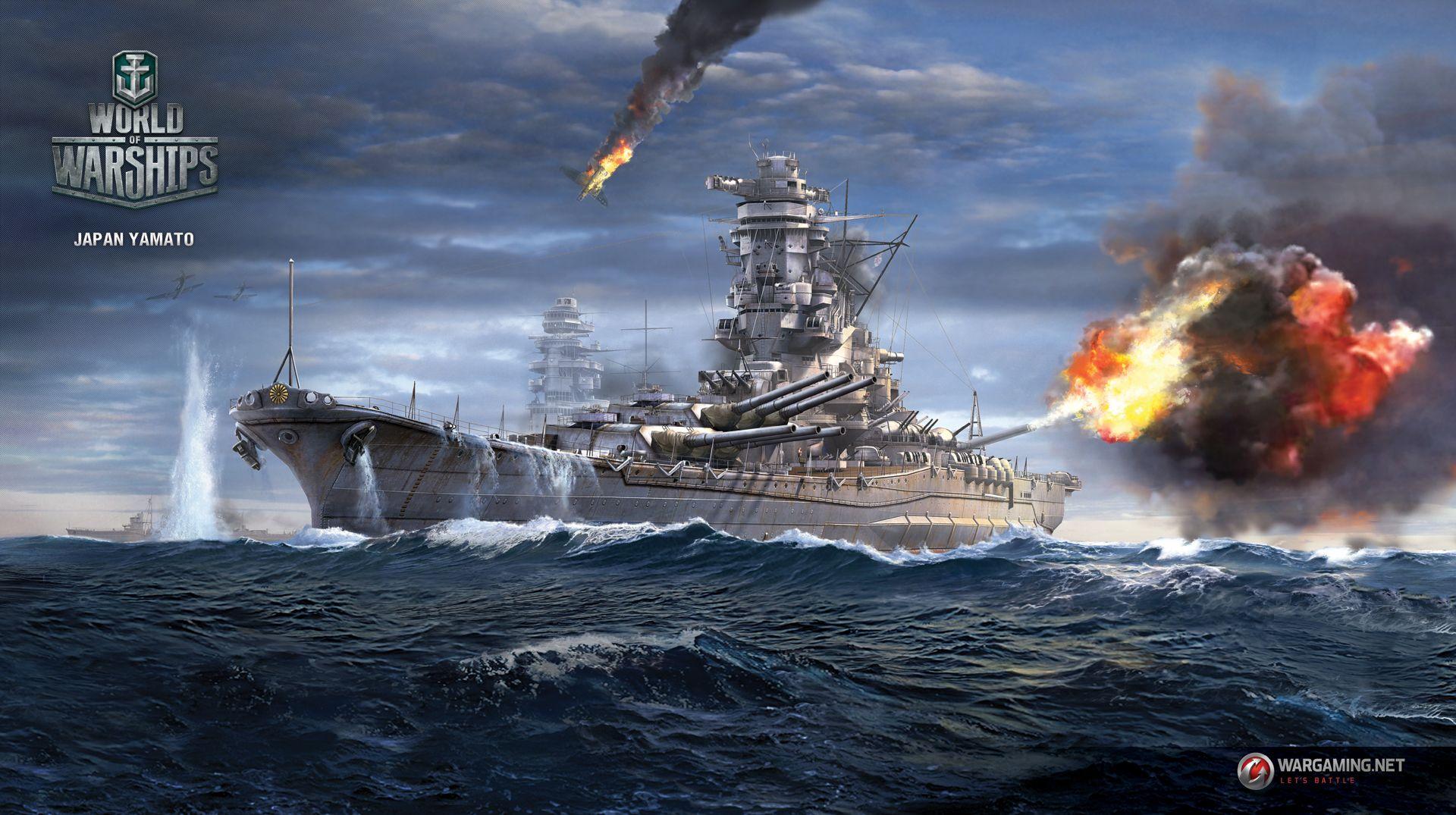 Japan Yamato Worldofwarships World Of Warships Wallpaper Yamato Battleship Battleship