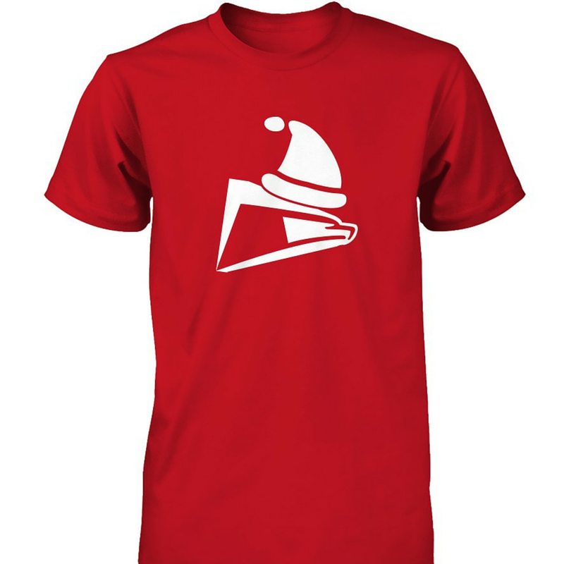 Postal Worker Santa Christmas tshirt. USPS eagle logo