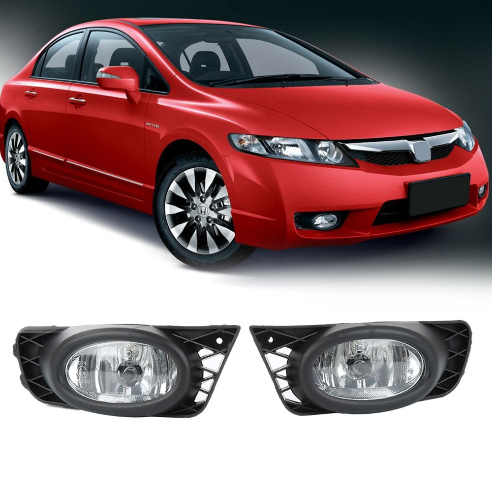 new 1 pair front fog light lamp with wiring harness replacement fits for 2009 2011 honda civic fa1 fa4 fa5 auto parts [ 1000 x 1000 Pixel ]