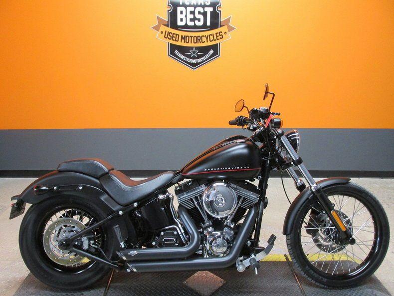 Harley Davidson Softail Blackline 2012 Harley Davidson Softail Blackline Fxs 4106 Miles Denim Black Paint Ebay Link