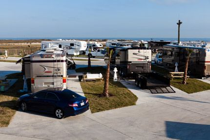 Tx Sandpiper Rv Resort Beach Front In Galveston Texas 201 Seawall Blvd Galveston Tx 77550 409 765 9431 Rv Parks And Campgrounds Rv Vacation Camping Places