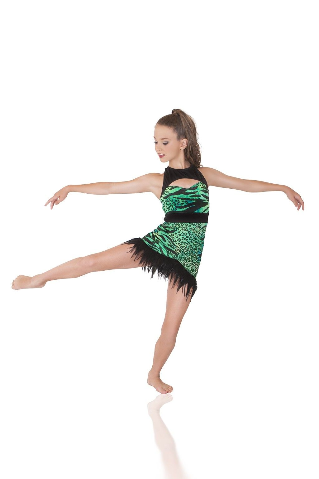 NWT Wolff Fording Dance COSTUME  pullover CHILD /& Men SIZES Black w// Print