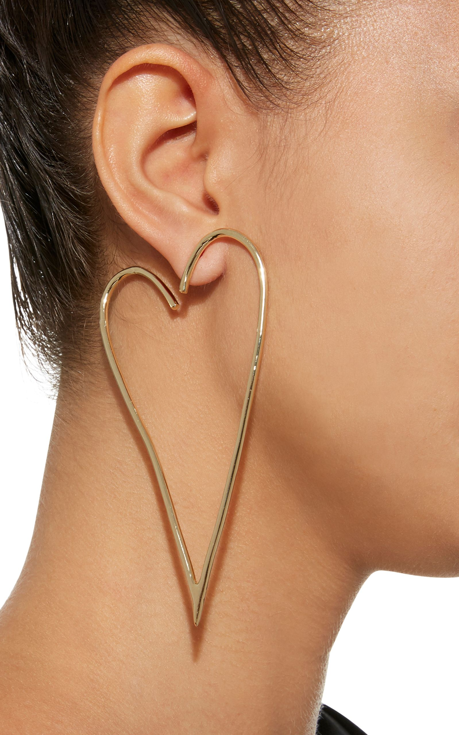 on leaf single pin wendes earring for moda charlotte preorder by tropic earrings operandi