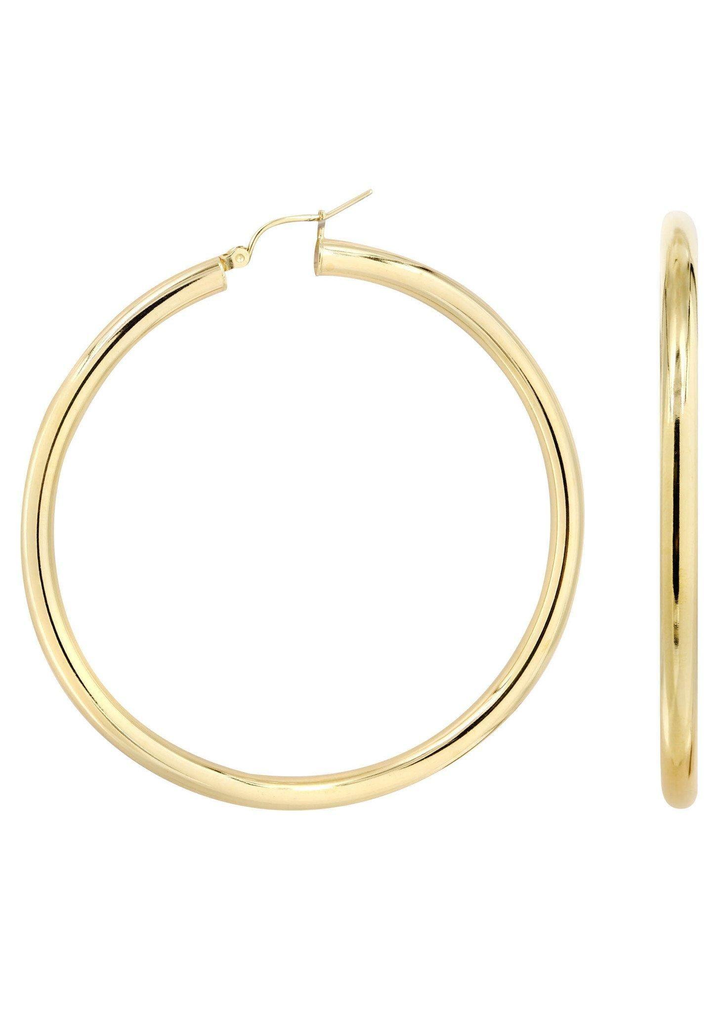 Frostnyc Frost Nyc 10k Gold Plain Hoop Earrings Customizable Size