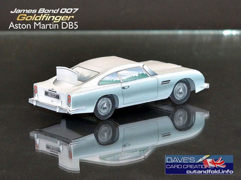 Aston Martin DB5 Paper Model by Dave Winfield - Dave's Card