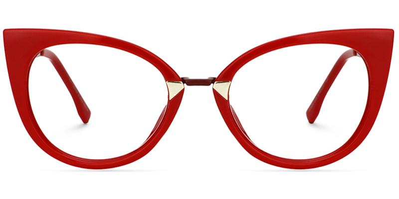 Prescription Eyeglasses Affordable Eyeglasses Frames Online Zeelool Optical Red Cat Eye Glasses Red Cats Eye Red Glasses