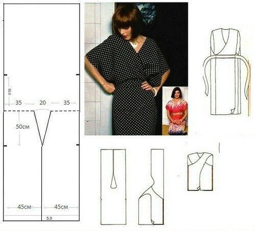 Blusa Kimono fácil | Varrás | Pinterest | Schnittmuster