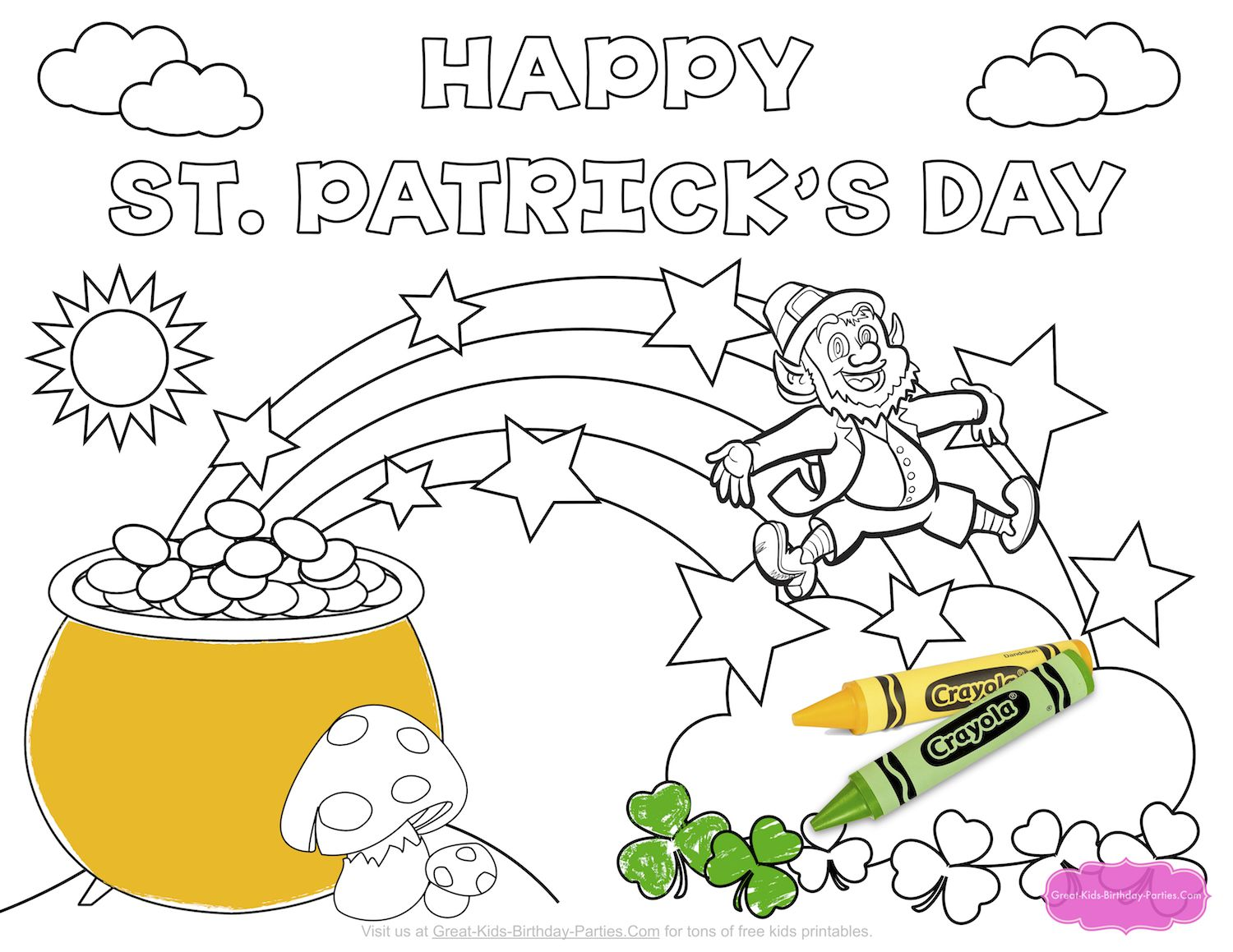 FREE St. Patrick\'s Day Printables for Kids. Entertain little ones ...