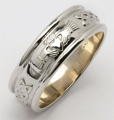 Amazon Com Mens Wide Rounded Claddagh Irish Wedding Ring Silver Irish Made Jewelry Claddagh Ring Wedding Wedding Rings For Women Irish Wedding Rings