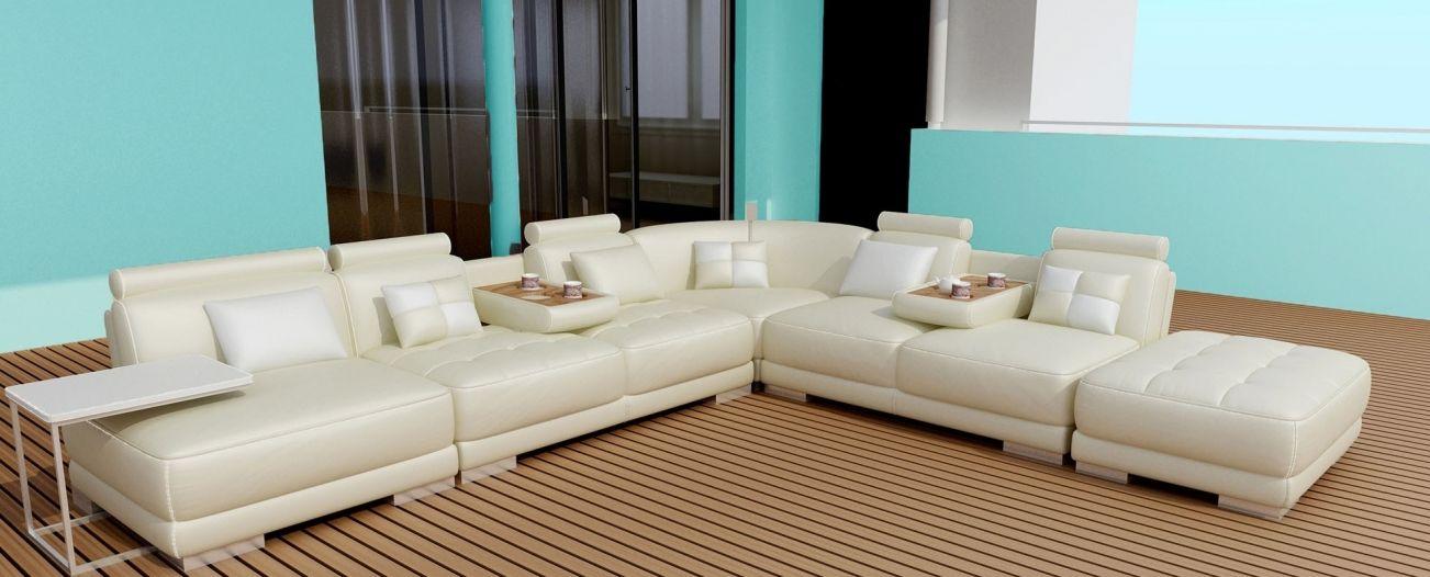 Canapé d\'angle en cuir italien modulable et design BELEM | Sofa ...