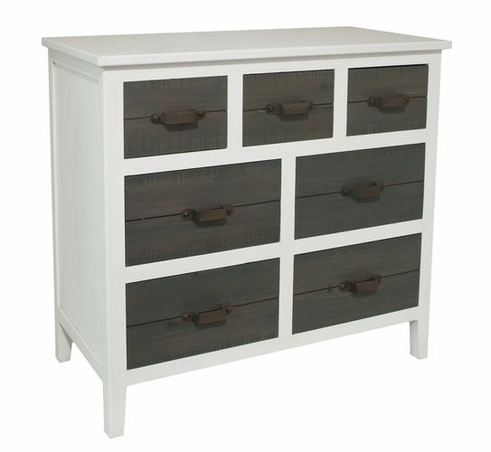 Three Hands Corp 217152 Fascinating Styled White Wood Cabinet By