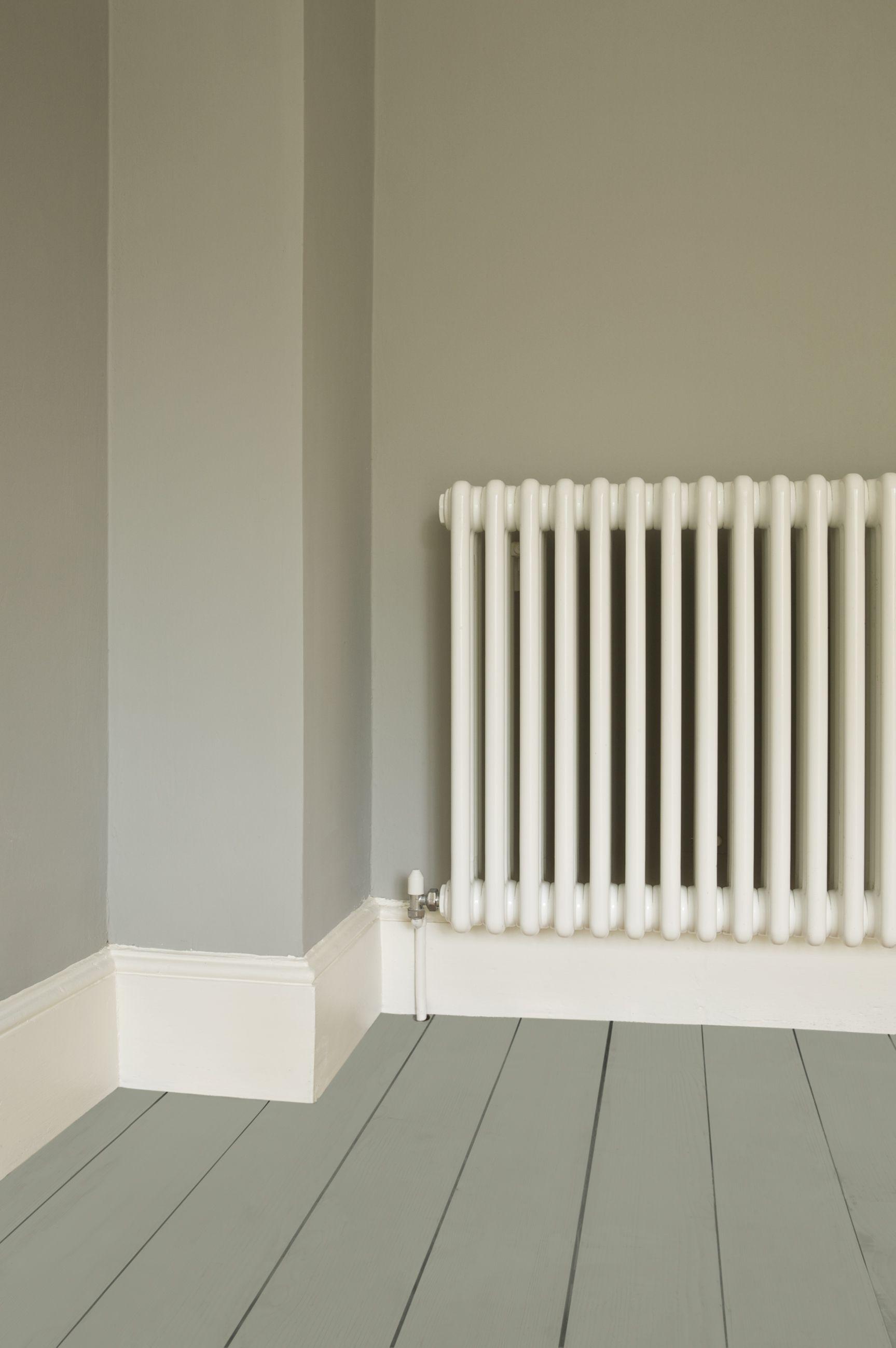 Walls In Farrow Ball Lamp Room Gray Estate Emulsion Floor Pigeon Paint And Radiator Wimborne Eggshell White