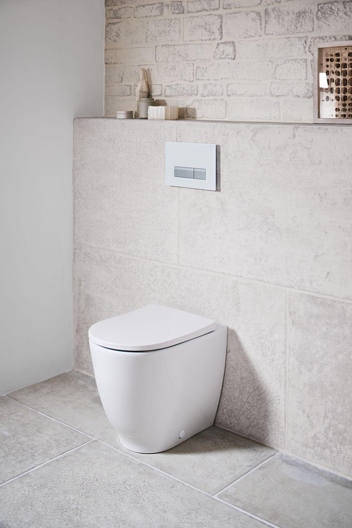 Staand toilet zonder spoelrand uit de Keramag Acanto collectie