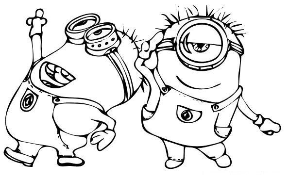 Despicable Me The Girls Coloring Pages 4 Minions