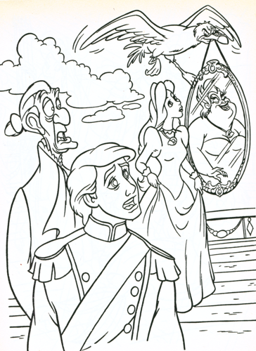 Walt Disney Characters Photo Walt Disney Coloring Pages Sir Grimsby Prince Eric Scuttle Vanessa Ursula Ariel Coloring Pages Fairy Coloring Pages Mermaid Coloring Pages