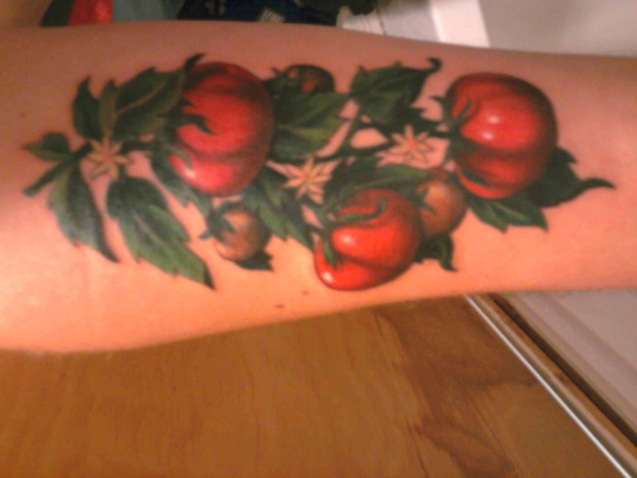 tomato tattoo tattoo pinterest