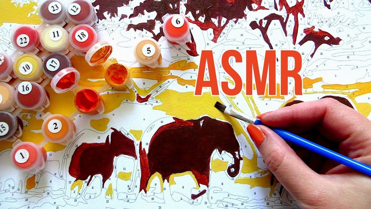 Asmr No Talking paintnumbers asmr pt. 1    unboxing & painting sounds
