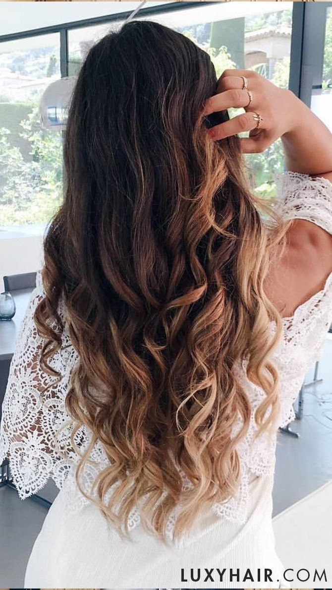 Ombre Blonde Goals Made Real With Luxy Hair Extensions Clipped In