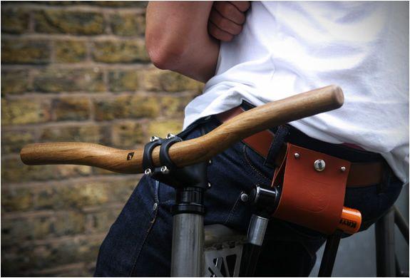 oak wood bicycle handlebar