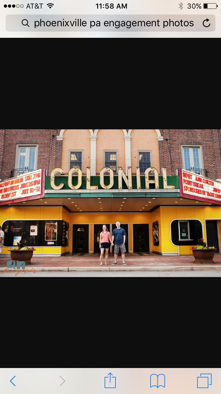 Colonial theater phoenixville engagement photos photo