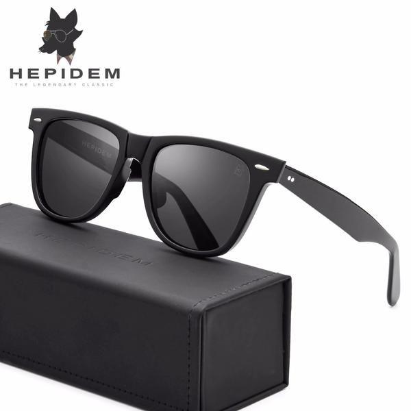 a498c4b42b7 HEPIDEM Acetate Square Sunglasses Men Driving Mirrored Sun Glasses for  Women Brand Designer New Rays Hot Polarized Sunglass 2140