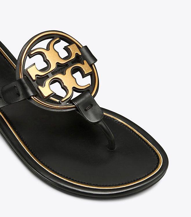 75a04defa Tory Burch Miller Metal-Logo Sandal