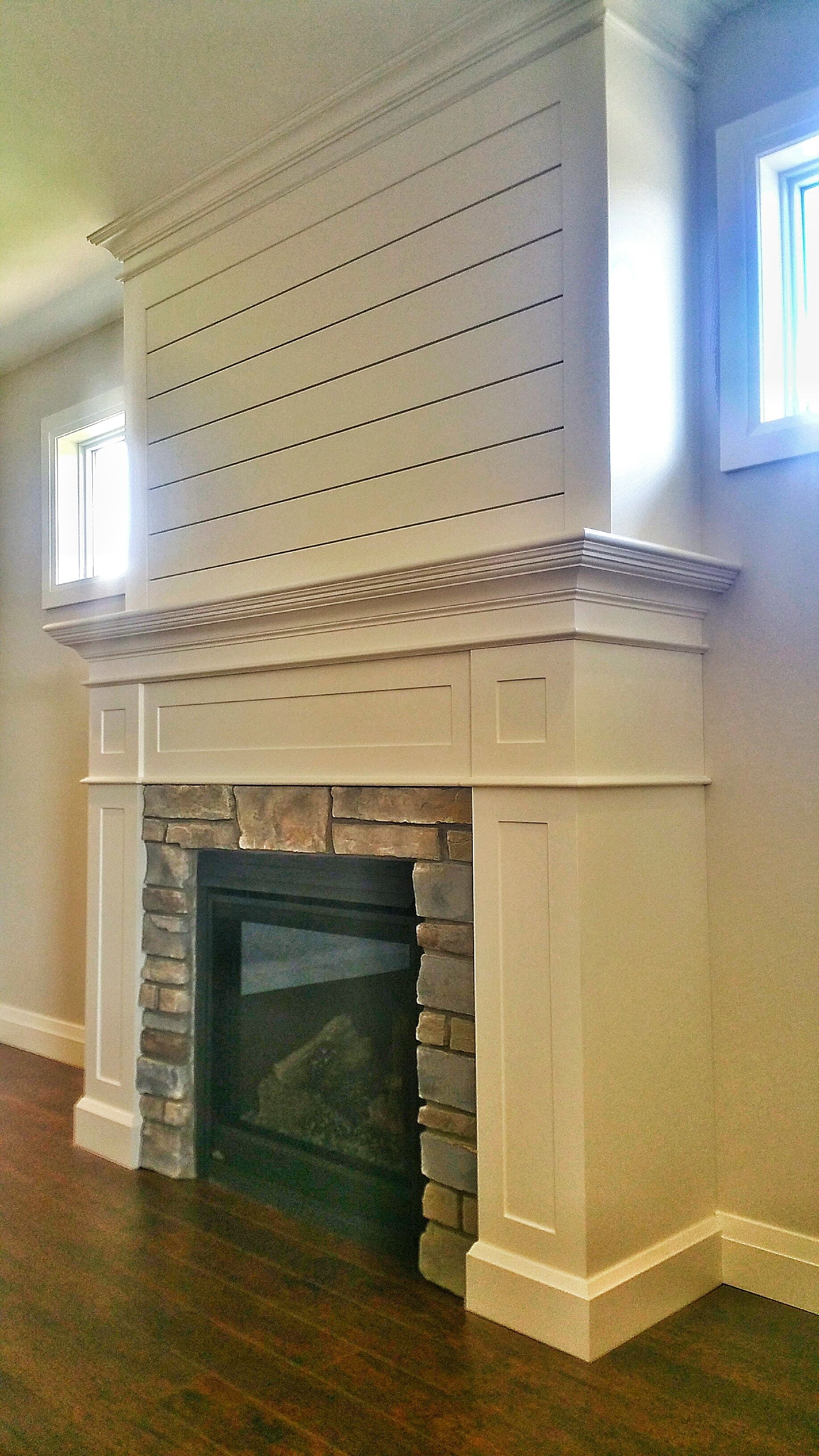 Custom Millwork Shiplap And Cultured Stone Are The