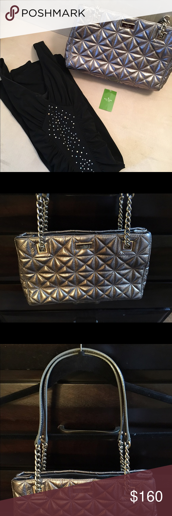 Kate Spade Silver Bag / Retails at $428 Beautiful & barely used bag! Retails for $428; bought at $220 (Also selling this dress in a separate listing) kate spade Bags
